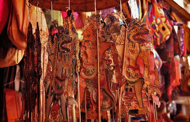 Сувенирная лавка в Индонезии