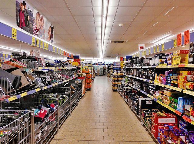 Супермаркет в странах для шоппинга