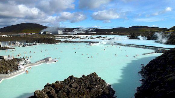 Голубая лагуна в Исландии, фото