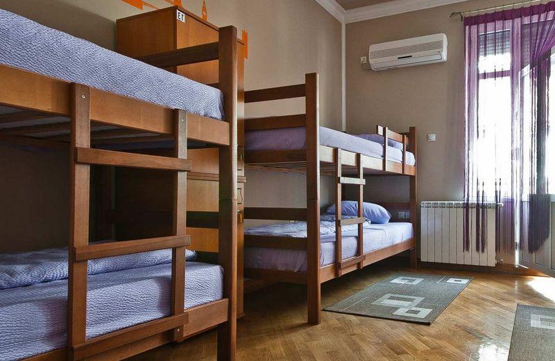 Кровати в хостеле