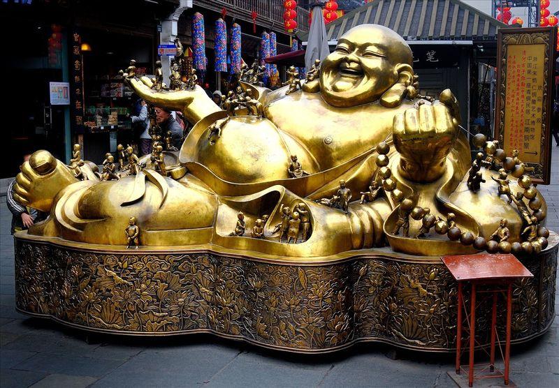 Смеющийся Будда, Китай