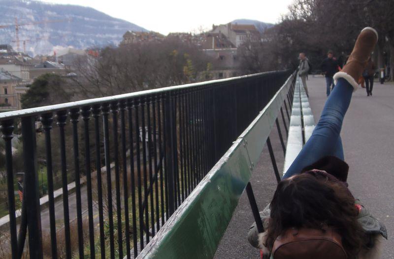 Самая длинная лавочка, Женева