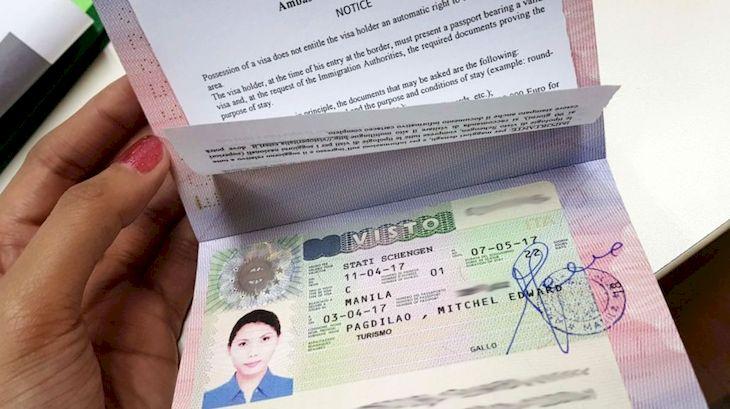 Шенген виза, фото