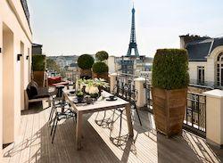 гостиница Marignan Champs Elysees с видом на Эйфелеву башню, 5 звезд