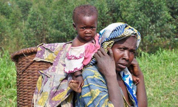 Женщина с ребенком в Конго