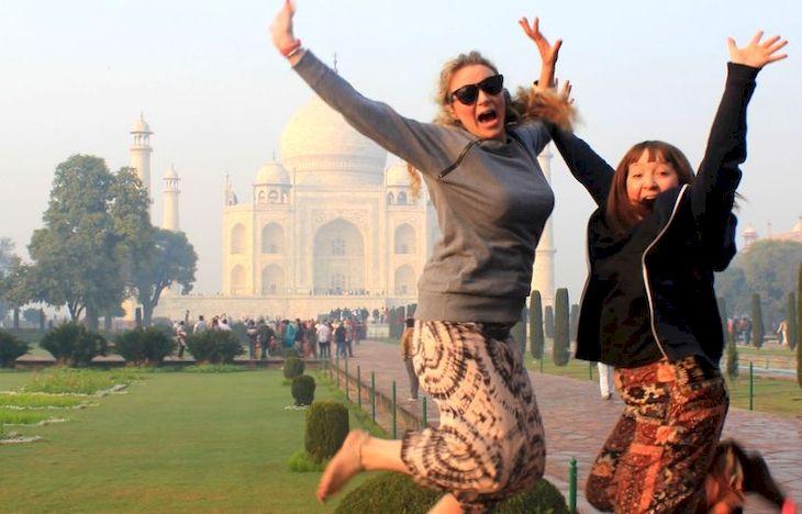 Туристы в Индии, фото