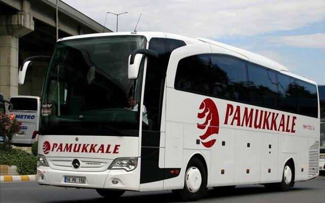 Автобус в Памуккале
