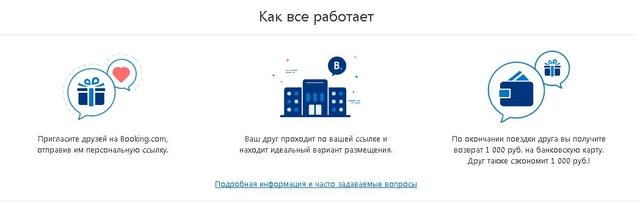 Возврат 1000 рублей от букинг