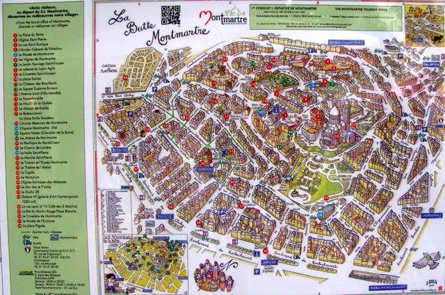 Карта Монмартр