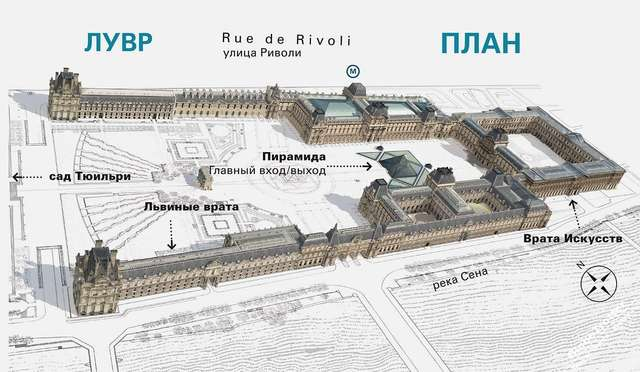 План Лувра