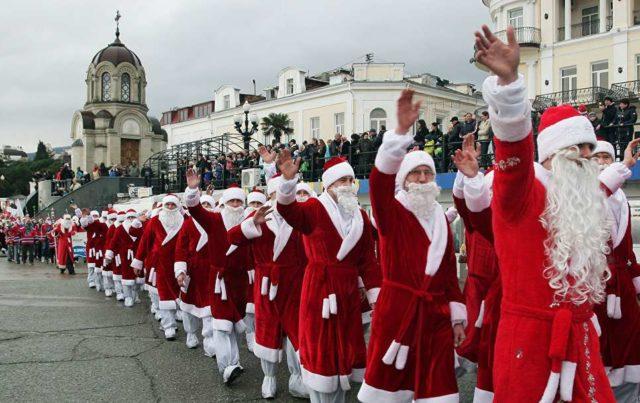 Дед морозы в Крыму