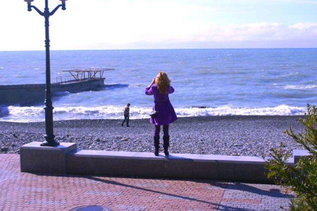 Море в Сочи в ноябре
