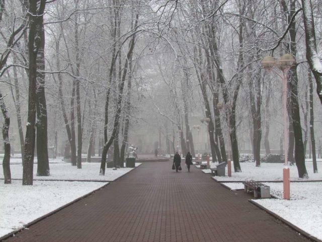 Минск в снегу