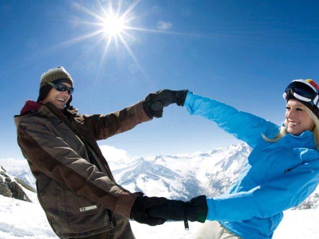 Влюбленные лыжники