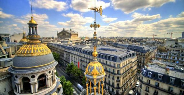 Вид сверху в Париже