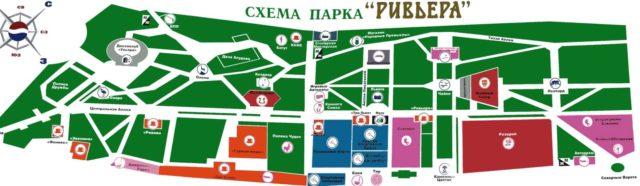 Карта Ривьера парк