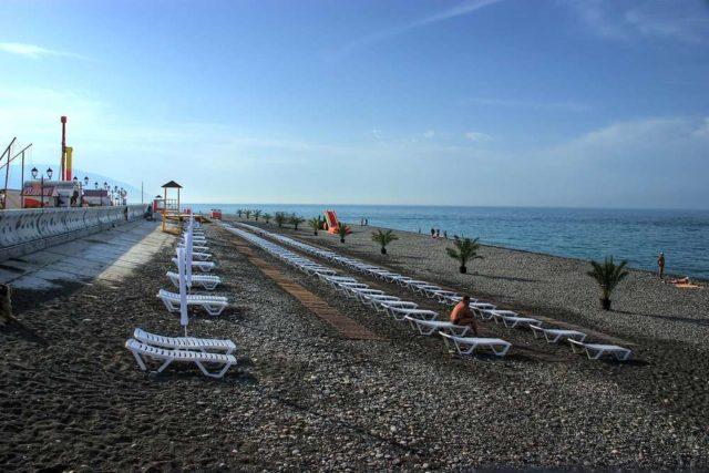 Пляж Имеретинский в Адлере