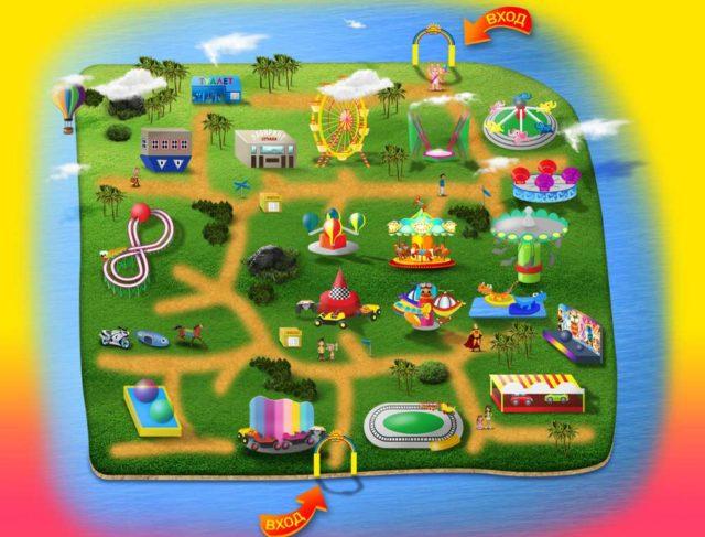 Схема парка Солнечный остров