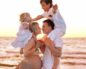 Беременная на море с семьей