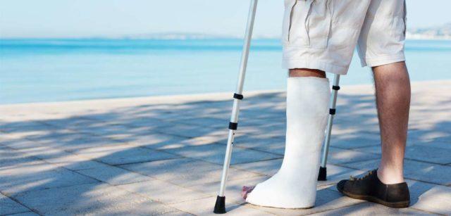 Сломал ногу в Тае