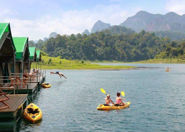 Развлечения на озере Чео Лан