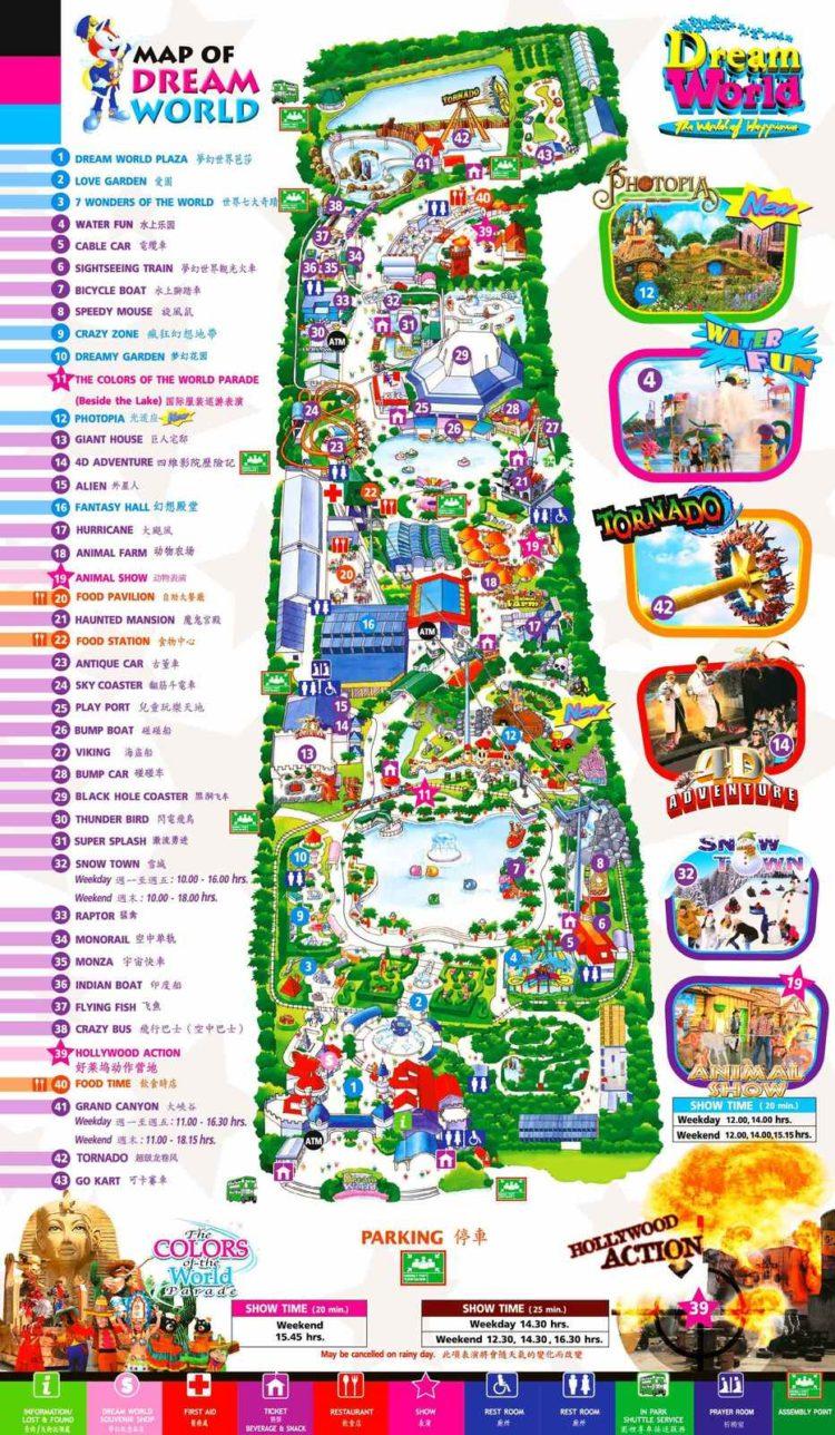 Схема Диснейленда в Бангкоке