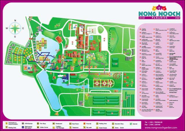 Схема парка Нонг Нуч