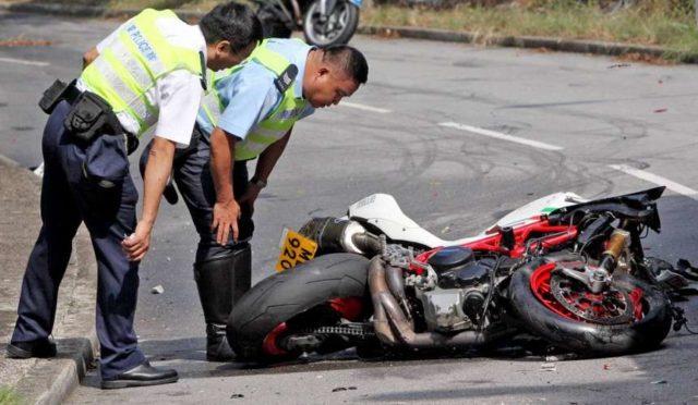 Упал с мотоцикла на Пхукете