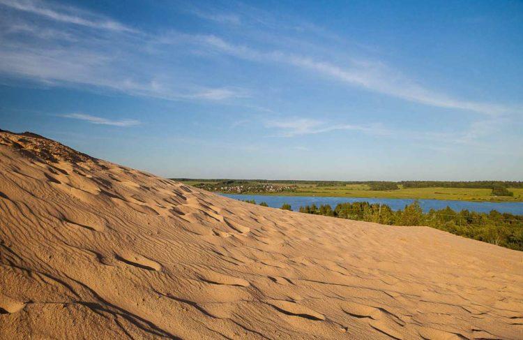 Песчаные дюны в Сычево
