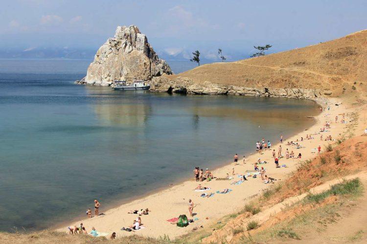 Пляжи на острове Ольхон на Байкале