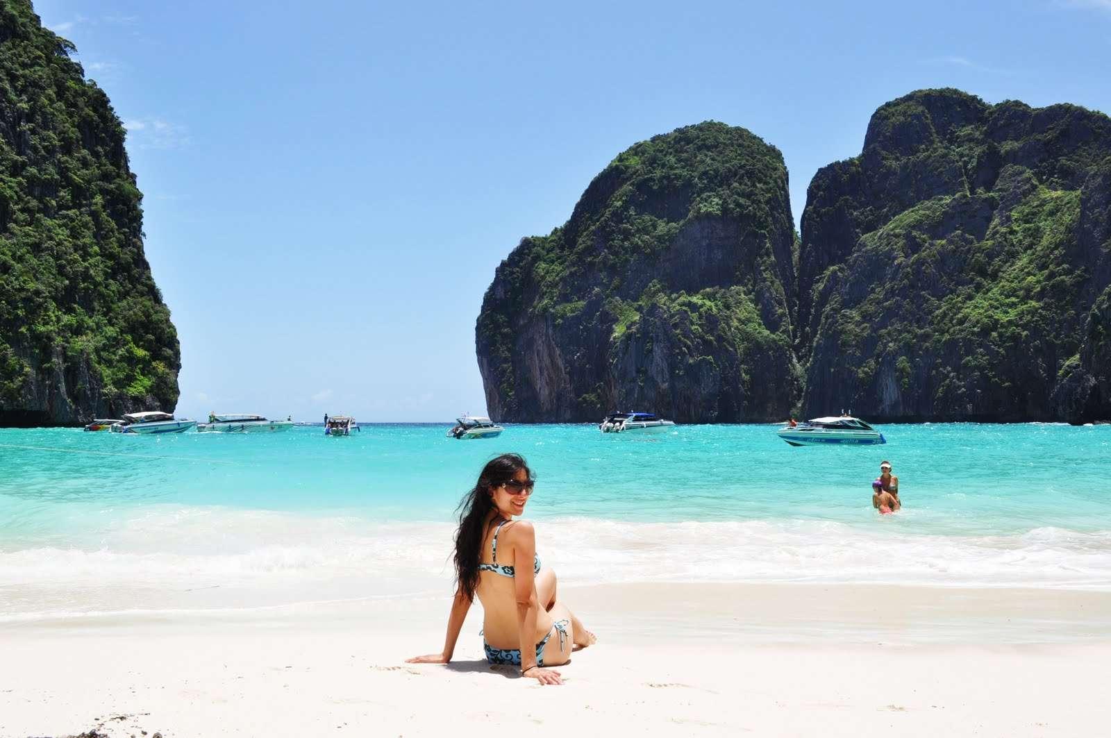 Monkey Beach In Phi Phi Island